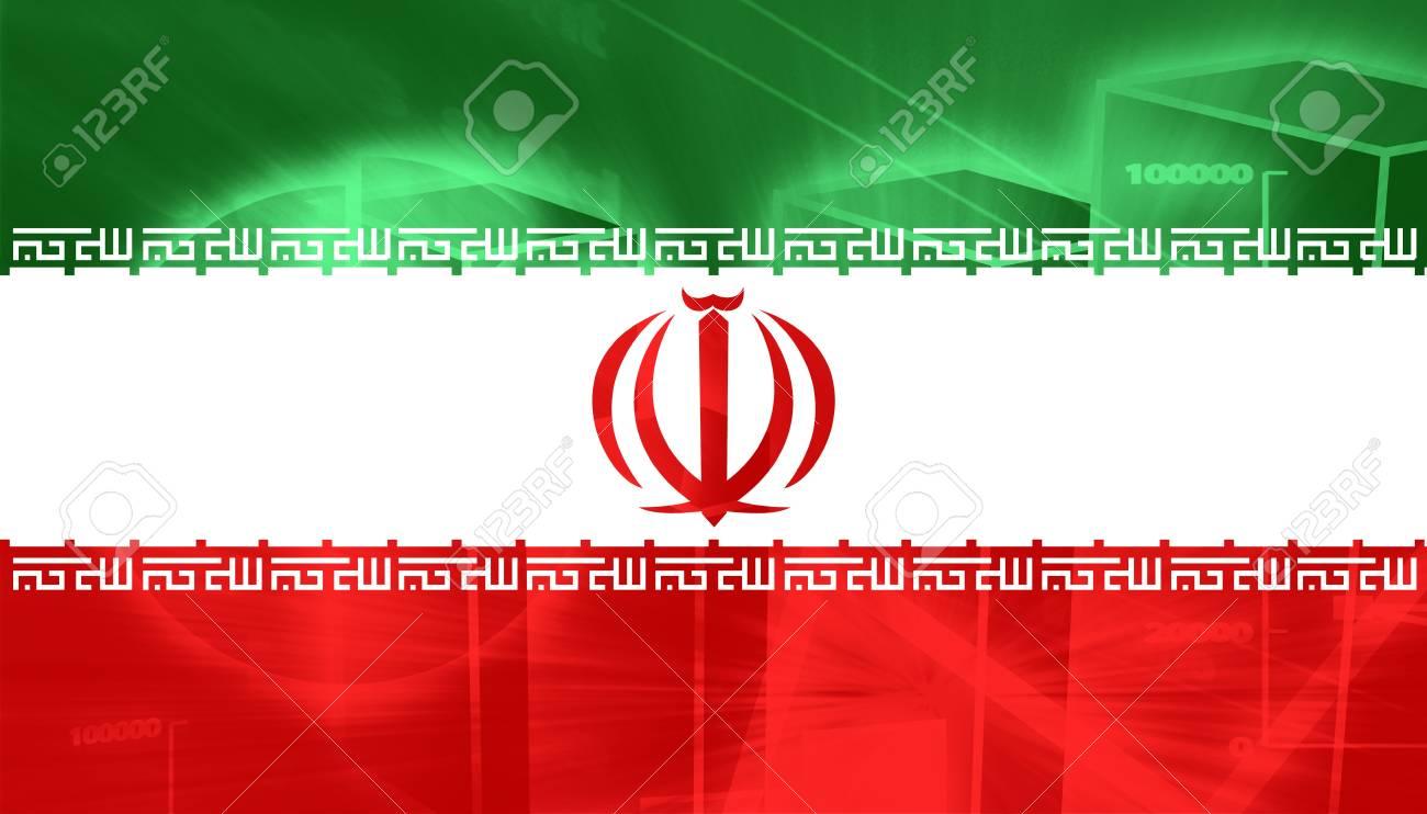 イラン国立国のフラグ記号の図 ...