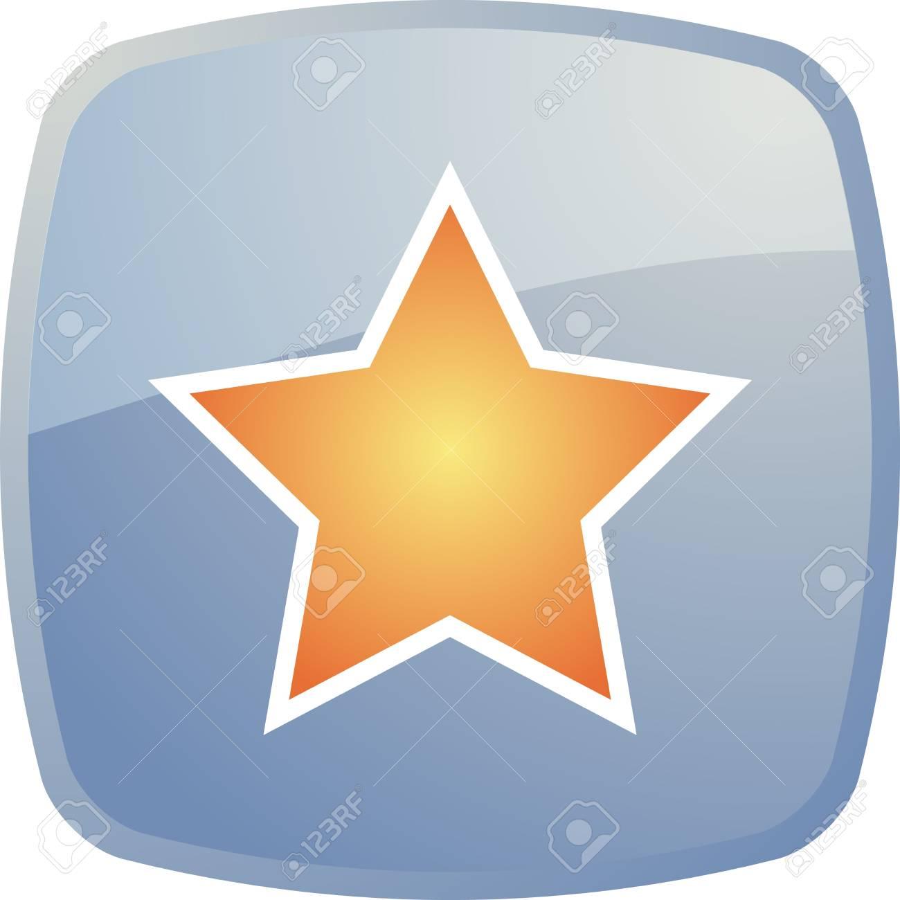 Bookmark navigation icon glossy button, square shape Stock Photo - 4522959