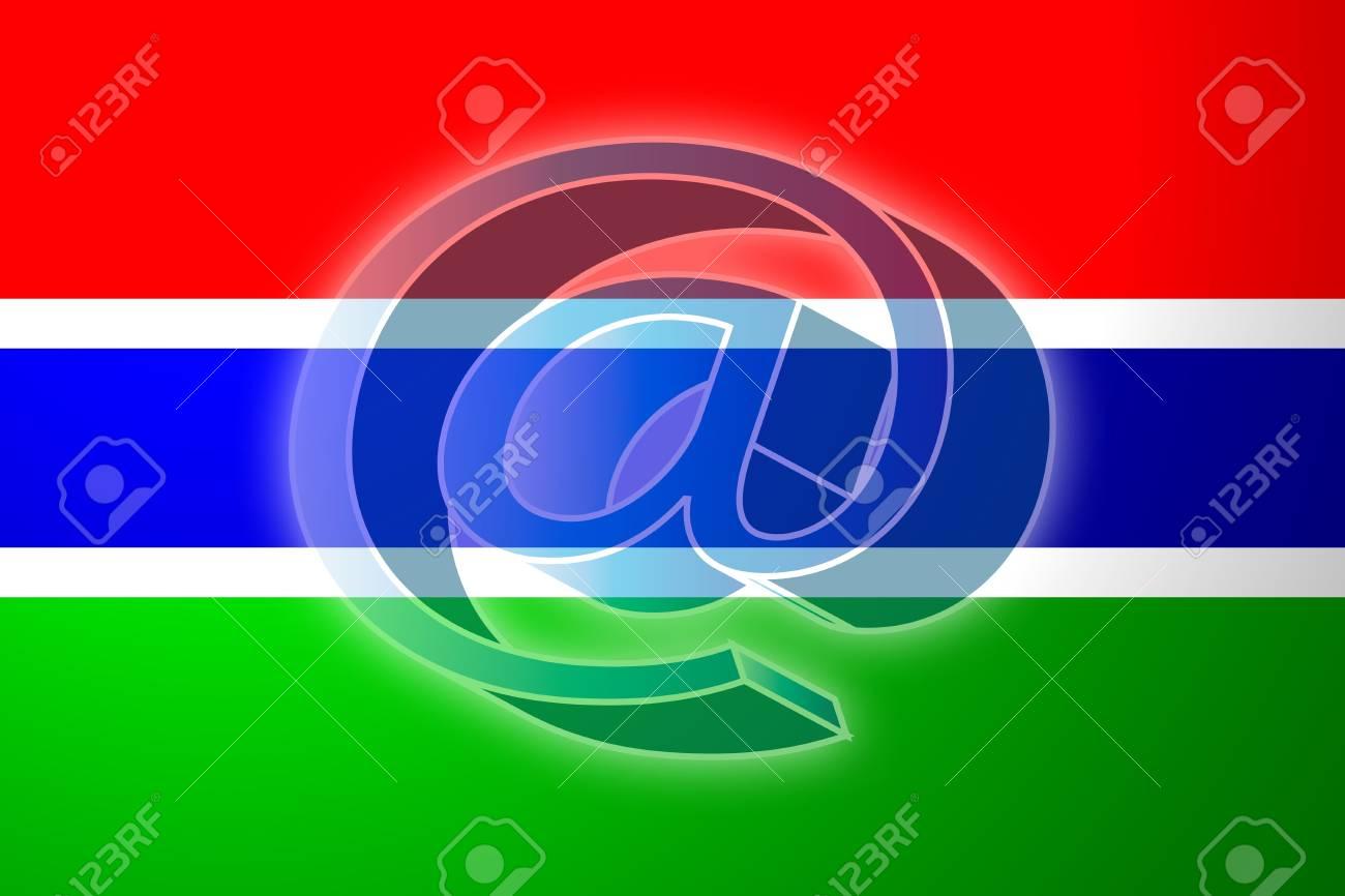 ガンビアの旗、国立国シンボル図...