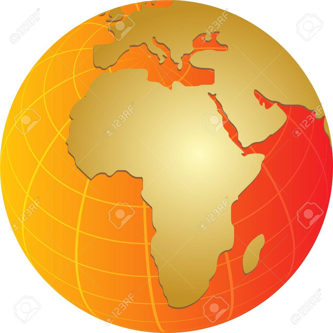 globe map illustration of africa middle east continents stock photo