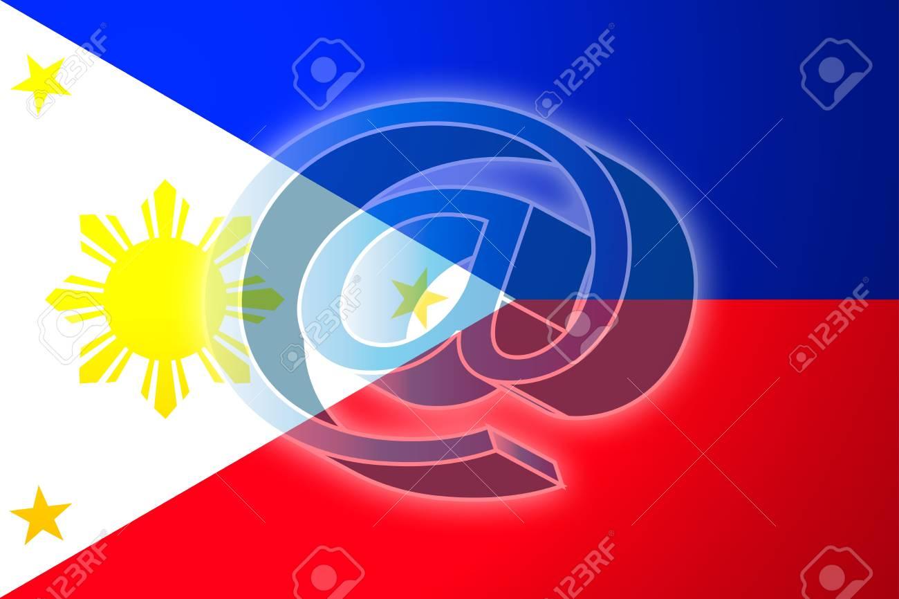 At superimposed over flag of philippines national country symbol at superimposed over flag of philippines national country symbol illustration indicating national internet stock illustration buycottarizona Images
