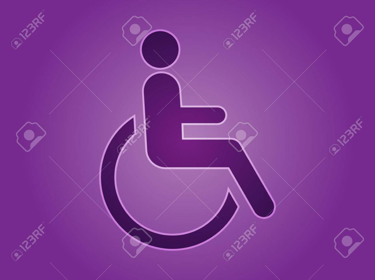 Handicap Symbol Illustration Icon Of Wheelchair Clipart Stock ...
