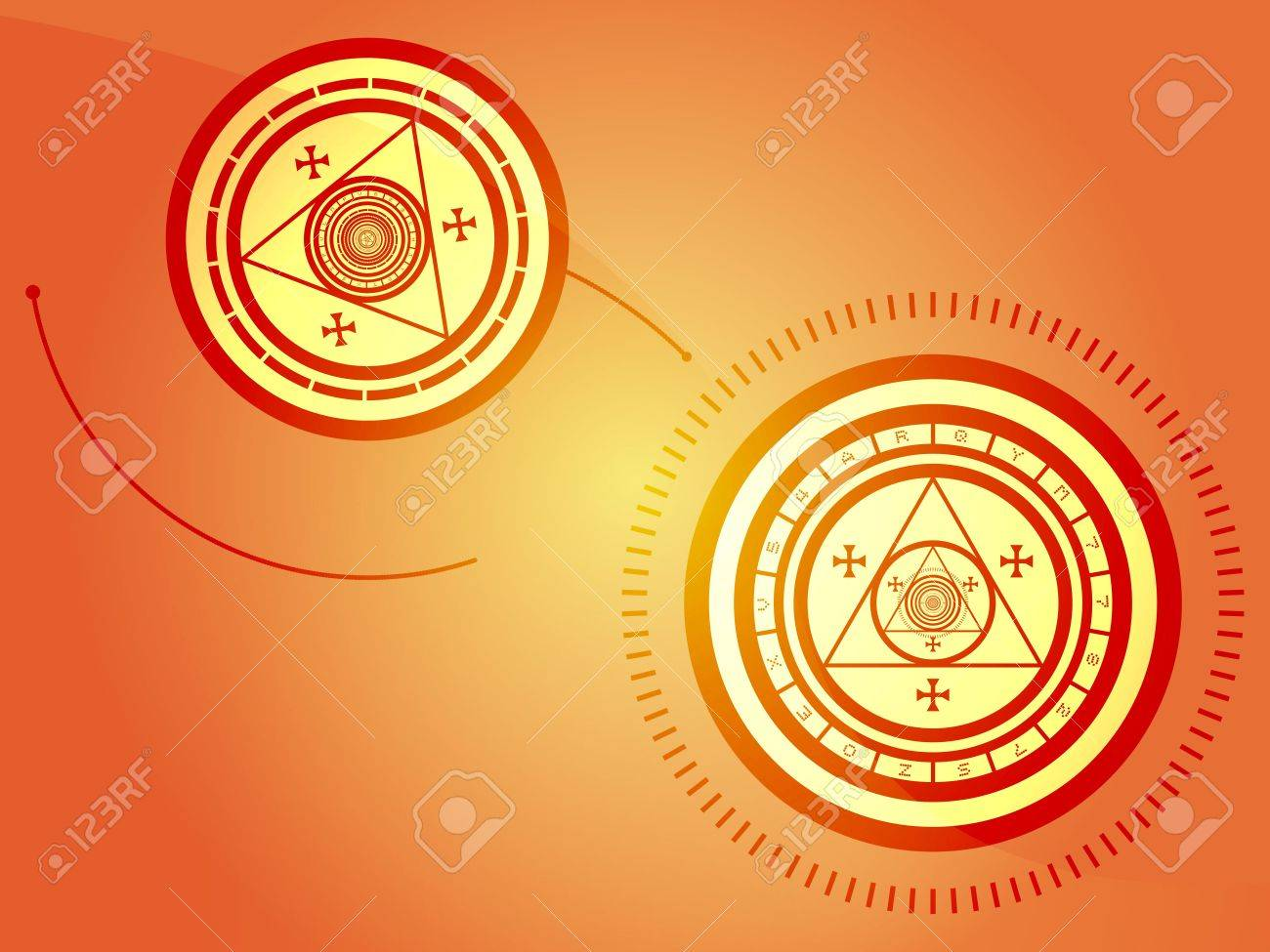 Wierd arcane symbols that look strange and occult Stock Photo - 4899201