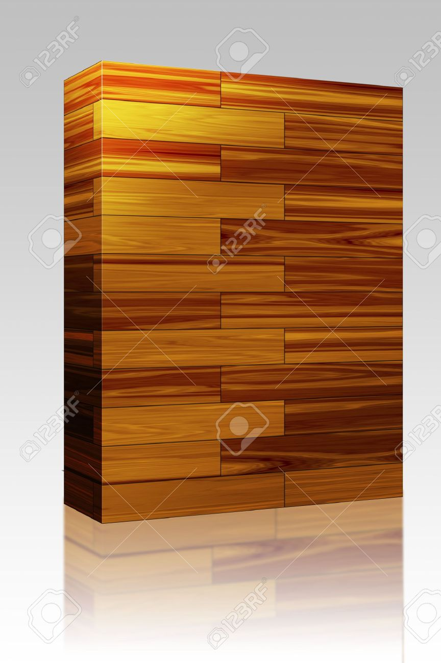 Software package box Wooden parquet flooring surface pattern texture seamless background Stock Photo - 4943715