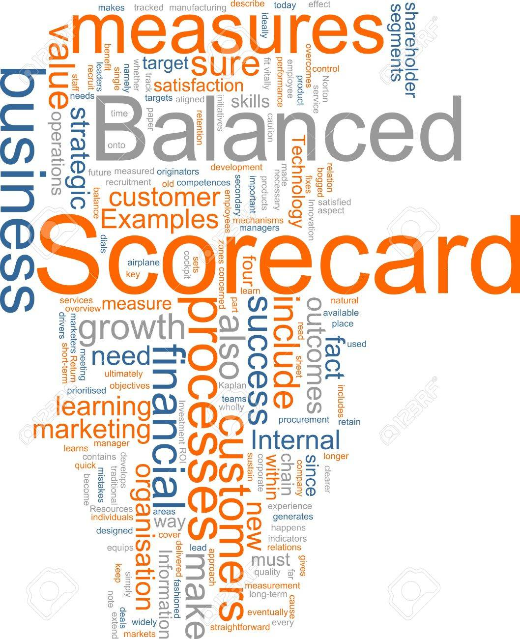 Word cloud concept illustration of balanced scorecard Stock Illustration - 4986166