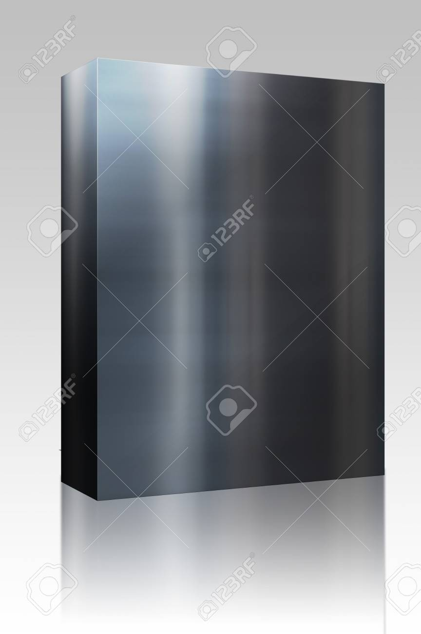 Software package box Brushed glossy metal surface, scratched texture background Stock Photo - 4986164