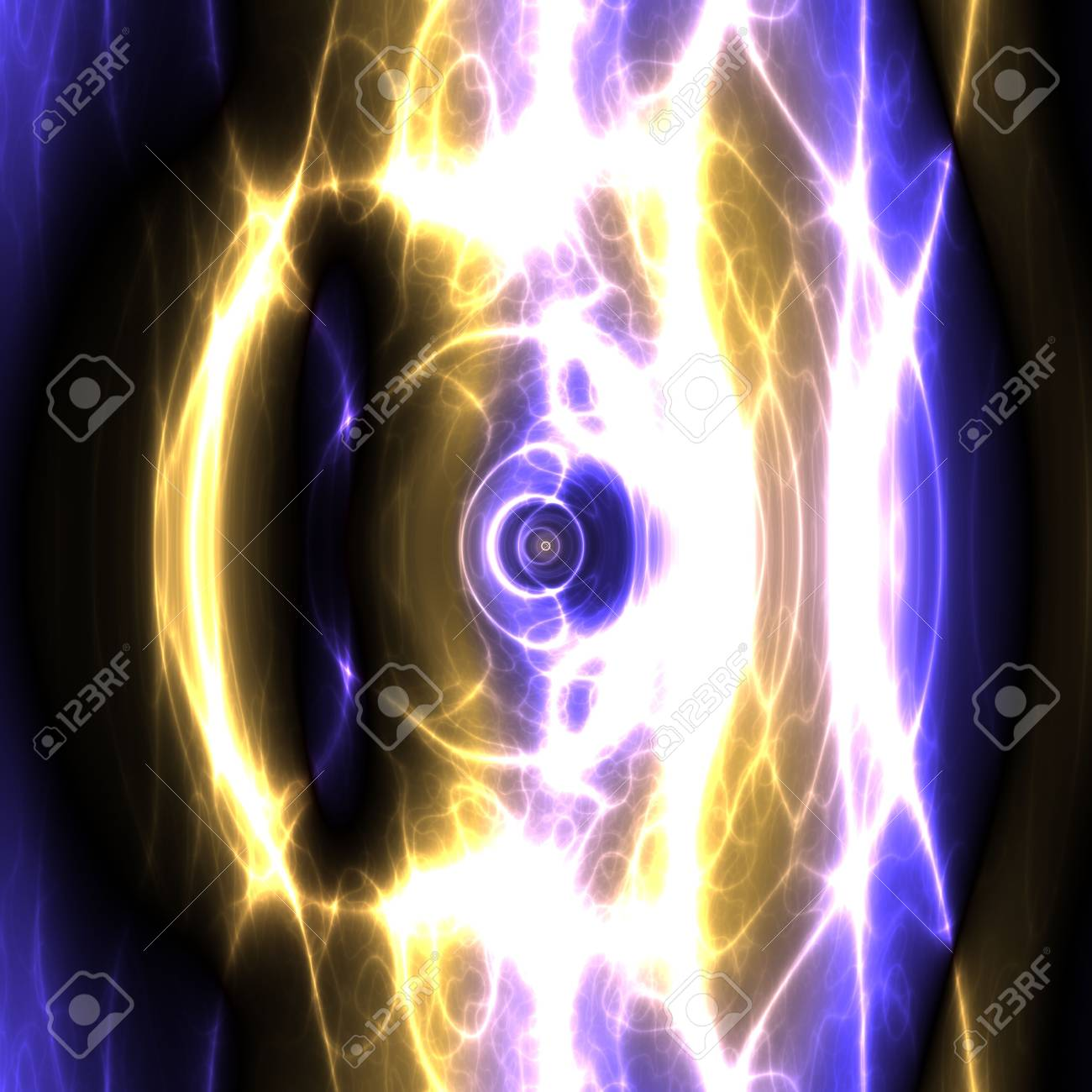 Swirly wavy circular flowing energy and colors, abstract illustration Stock Illustration - 5092575