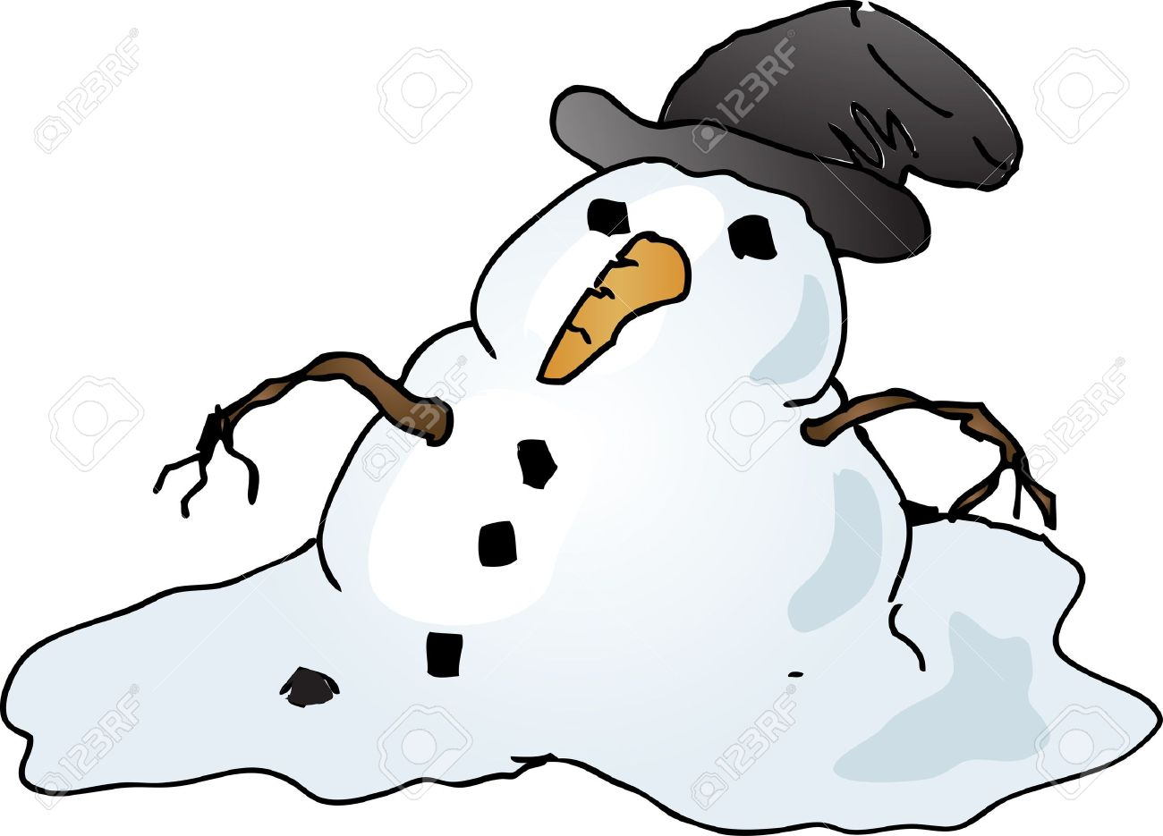 21 391 melting stock illustrations cliparts and royalty free rh 123rf com melting snowman clipart black and white Olaf Melting