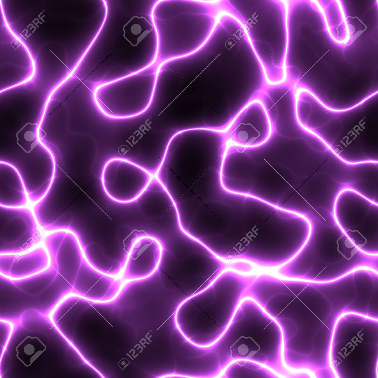 波状の流れる電気の稲妻の抽象的な壁紙イラスト の写真素材 画像素材