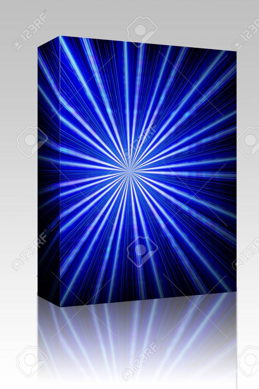 Software package box Radial zoom burst of energy, abstract background illustration Stock Photo - 5158555