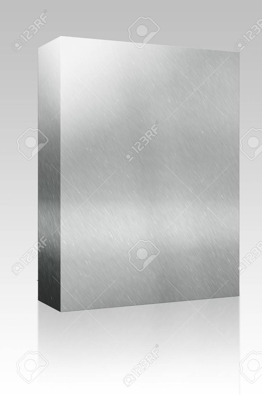 Software package box Texture background illustration of brushed glossy metal surface Stock Illustration - 5476609