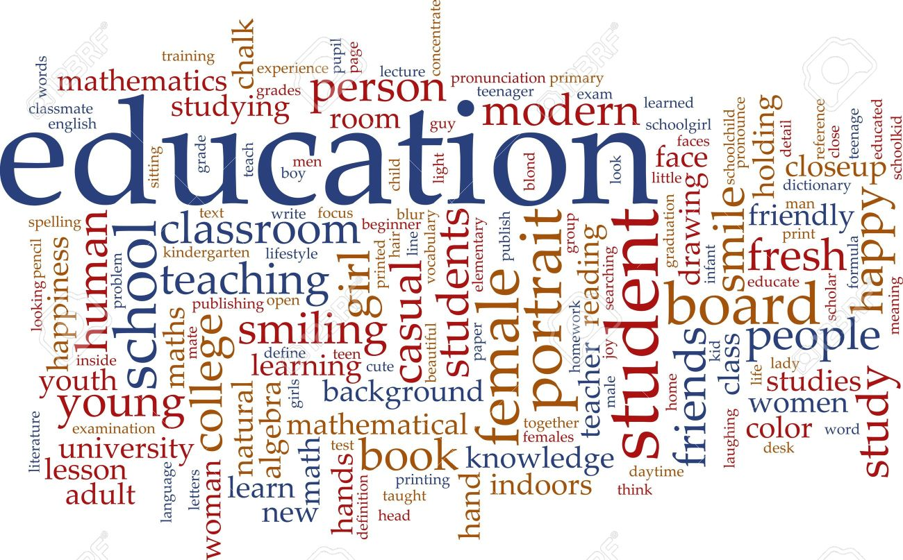 Illustration - Word cloud concept illustration of education studies