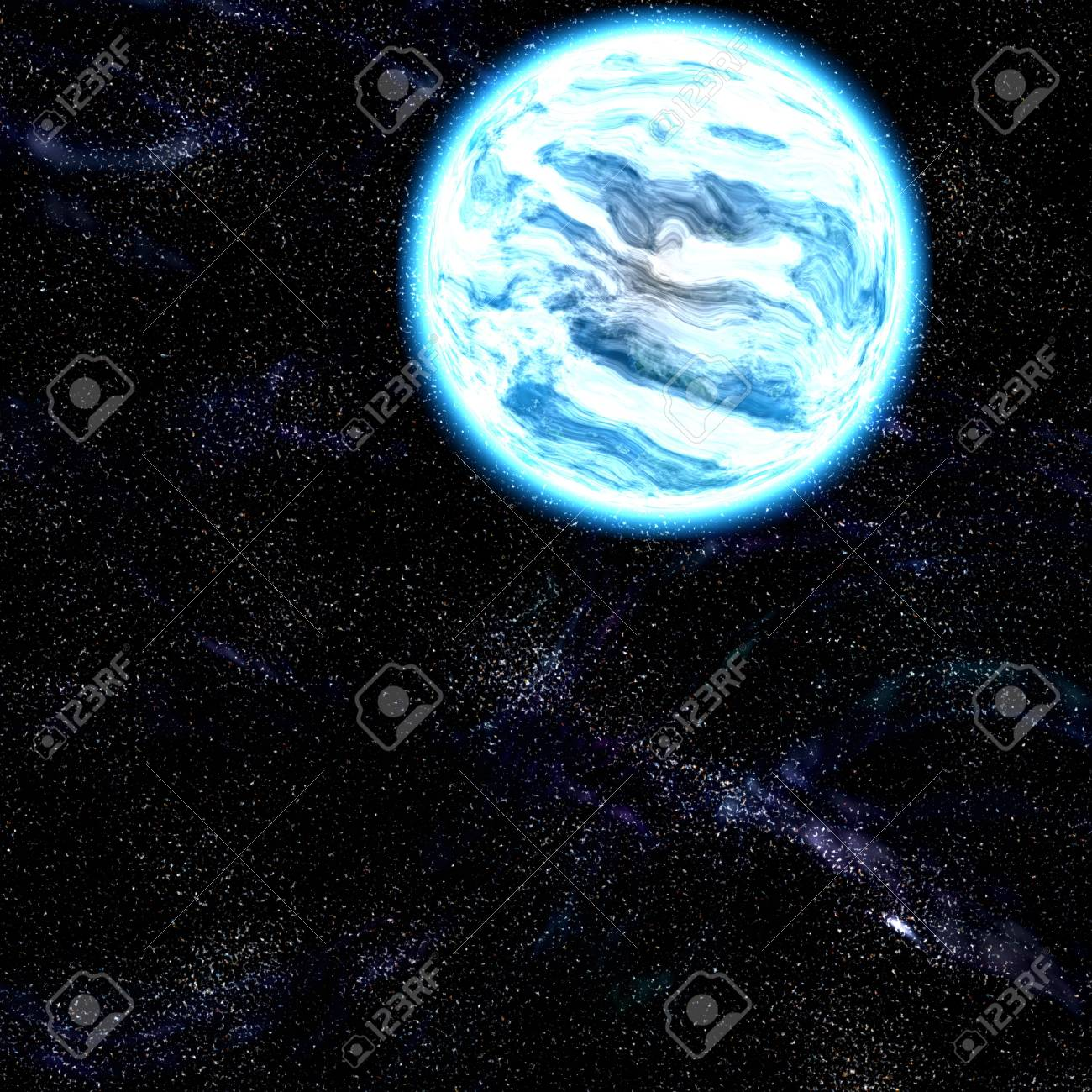 Science fiction planet complex space scene illustration Stock Photo - 5560451