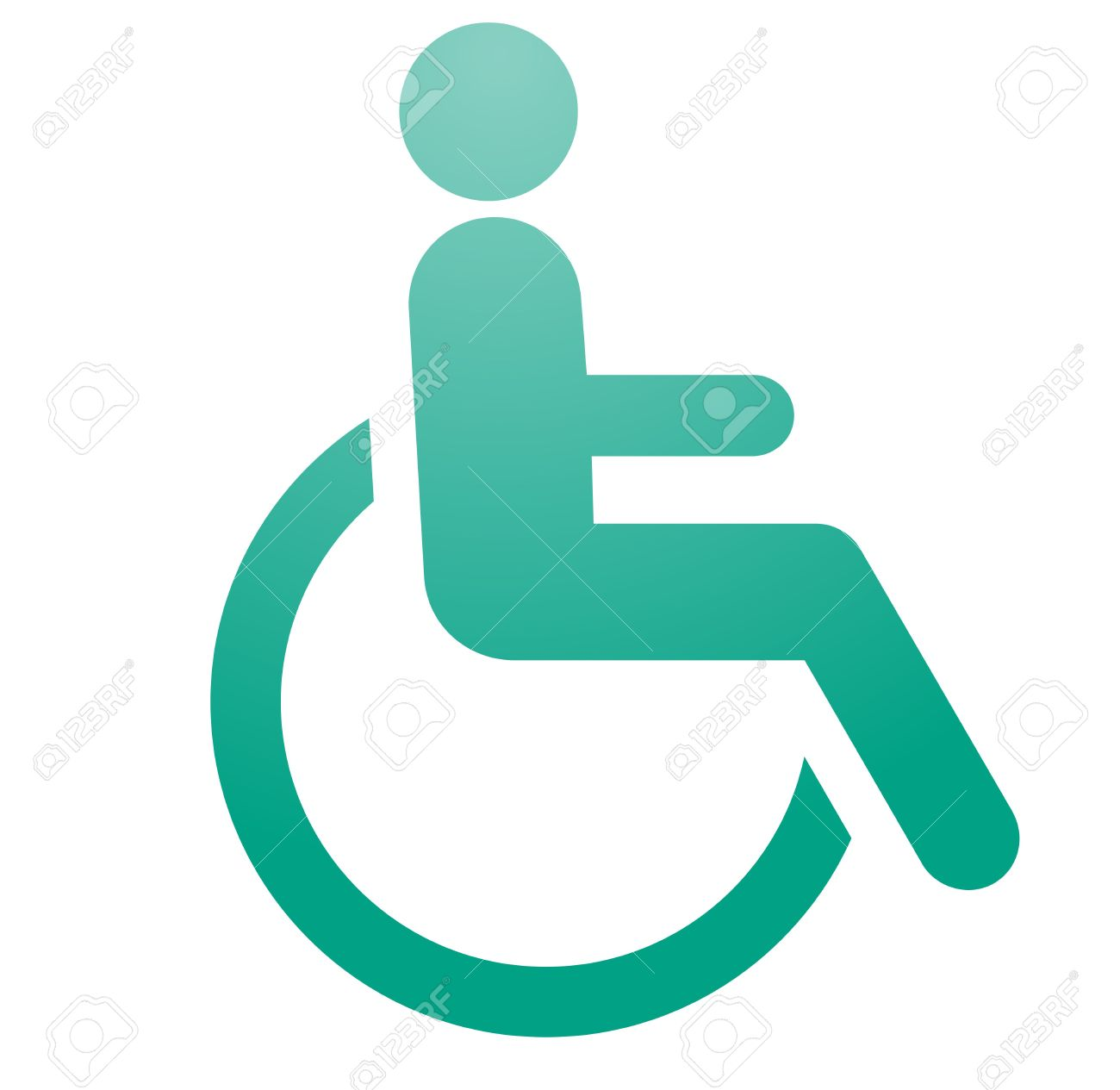 Handicap Symbol Illustration Icon Of Wheelchair Clipart Stock ...