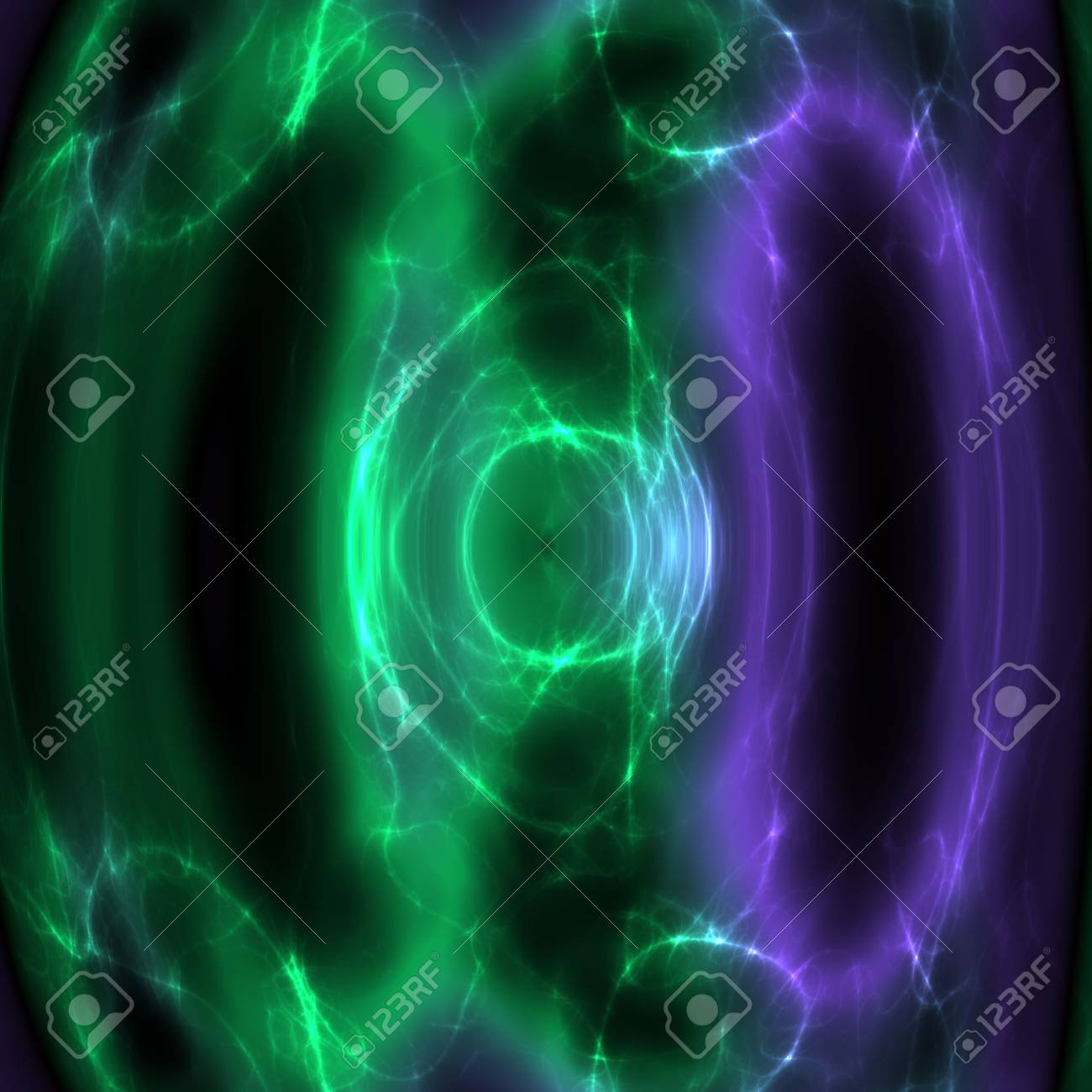 Swirly wavy circular flowing energy and colors, abstract illustration Stock Illustration - 5560416