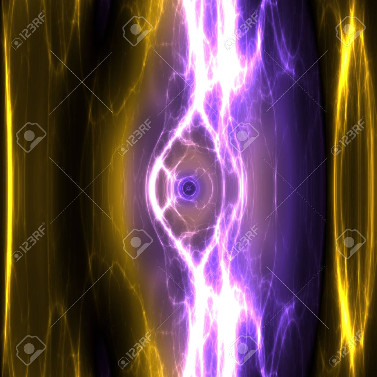 Swirly wavy circular flowing energy and colors, abstract illustration Stock Illustration - 5560475
