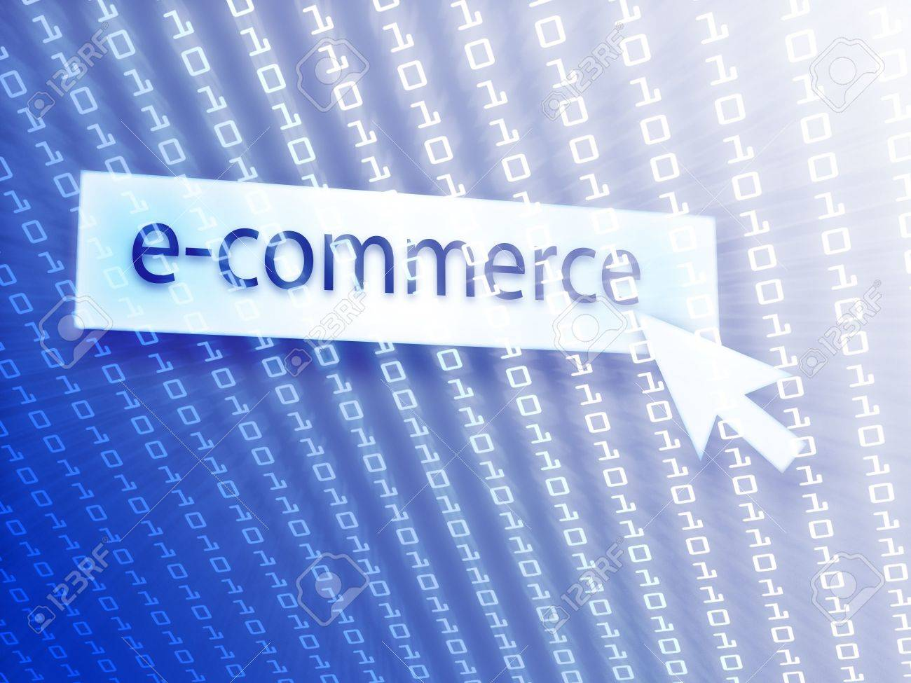 E commerce background images - E Commerce Button With Clicking Mouse Icon Digital Background Stock Photo 5604439