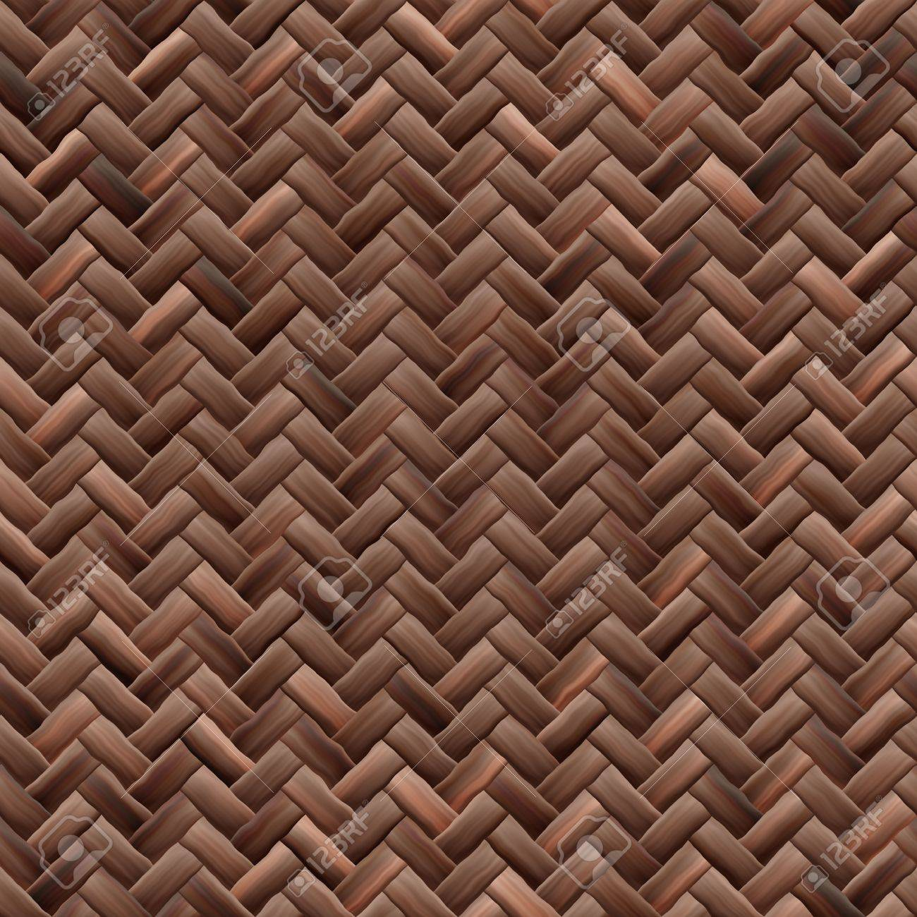 Tejido De Canasta De Textura Mosaico Perfectamente La Ilustración ...