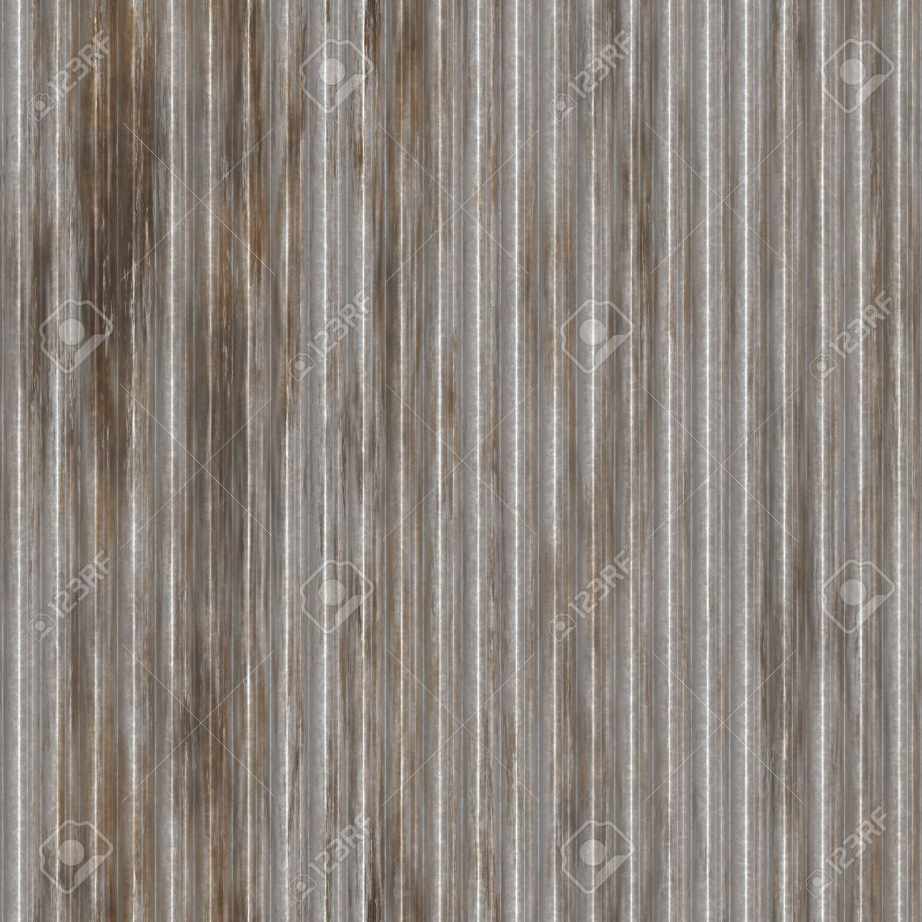 Corrugated metal ridged surface with corrosion seamless texture Stock Photo - 5641615