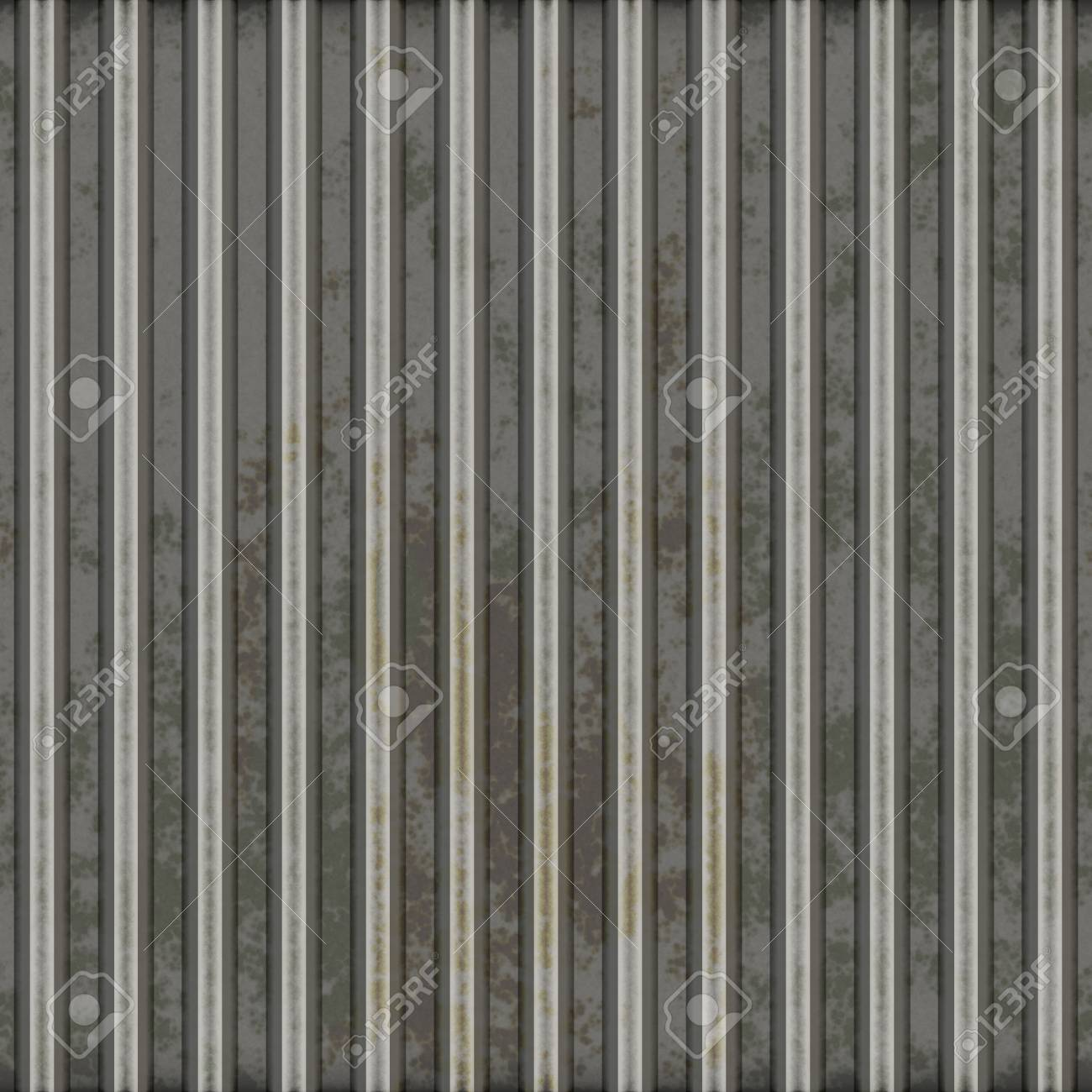 Corrugated metal surface with corrosion seamless texture Stock Photo - 5641605