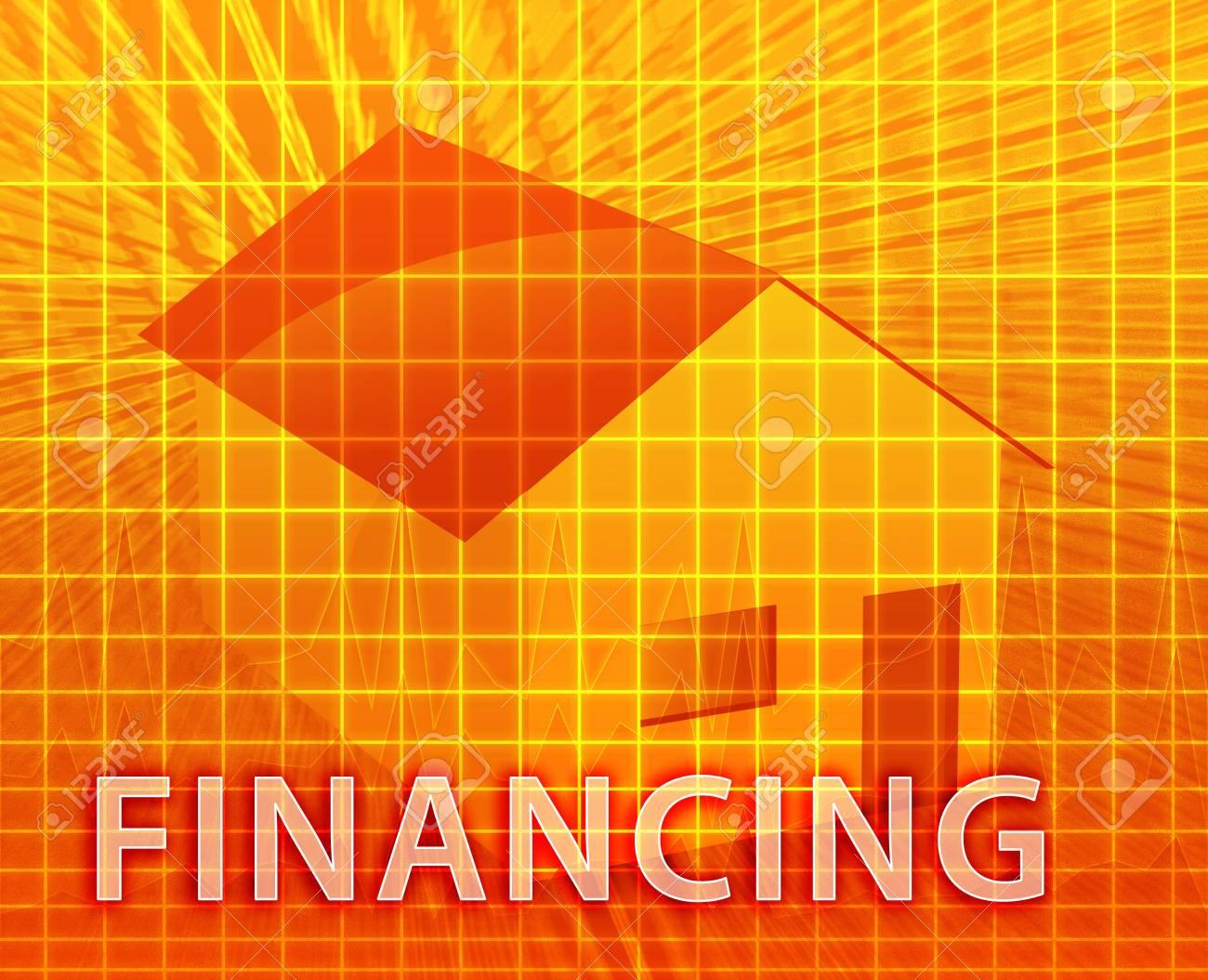 House financing digital collage illustration, subprime loan Stock Illustration - 5648217