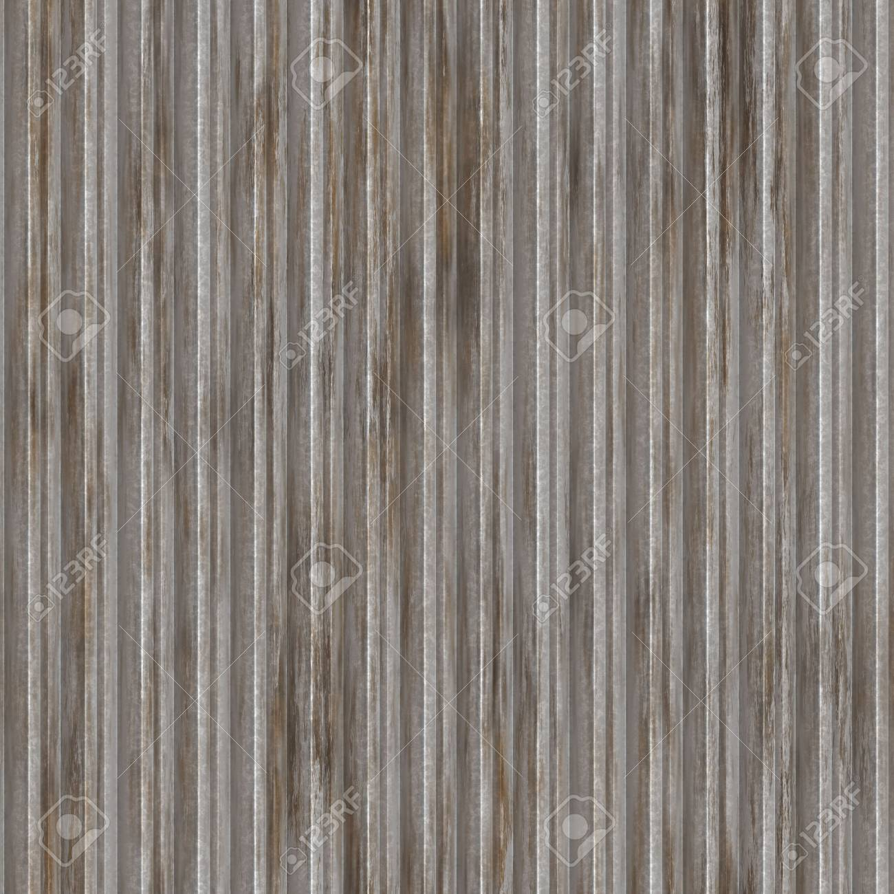Corrugated metal ridged surface with corrosion seamless texture Stock Photo - 5685940