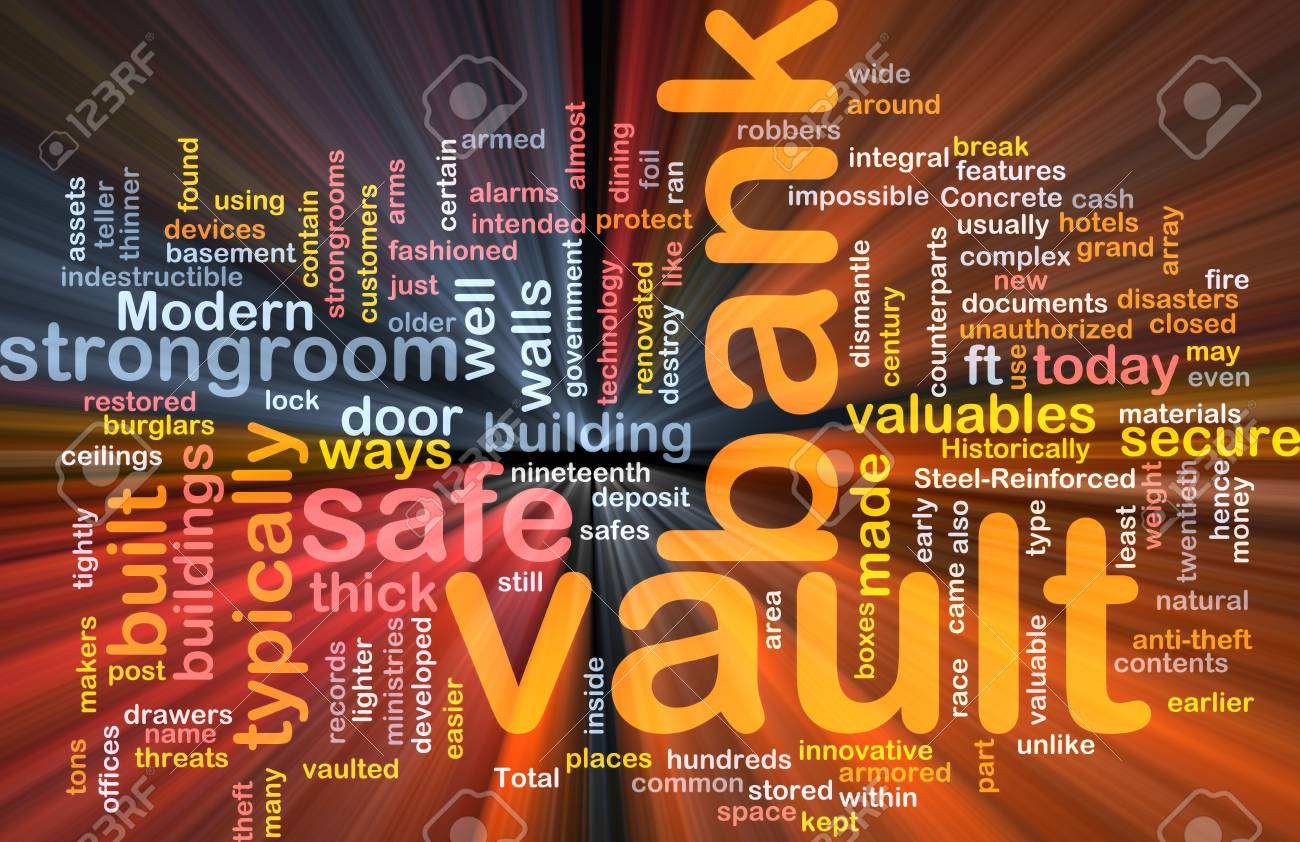 Software package box Word cloud concept illustration of bank vault Stock Photo - 5687900