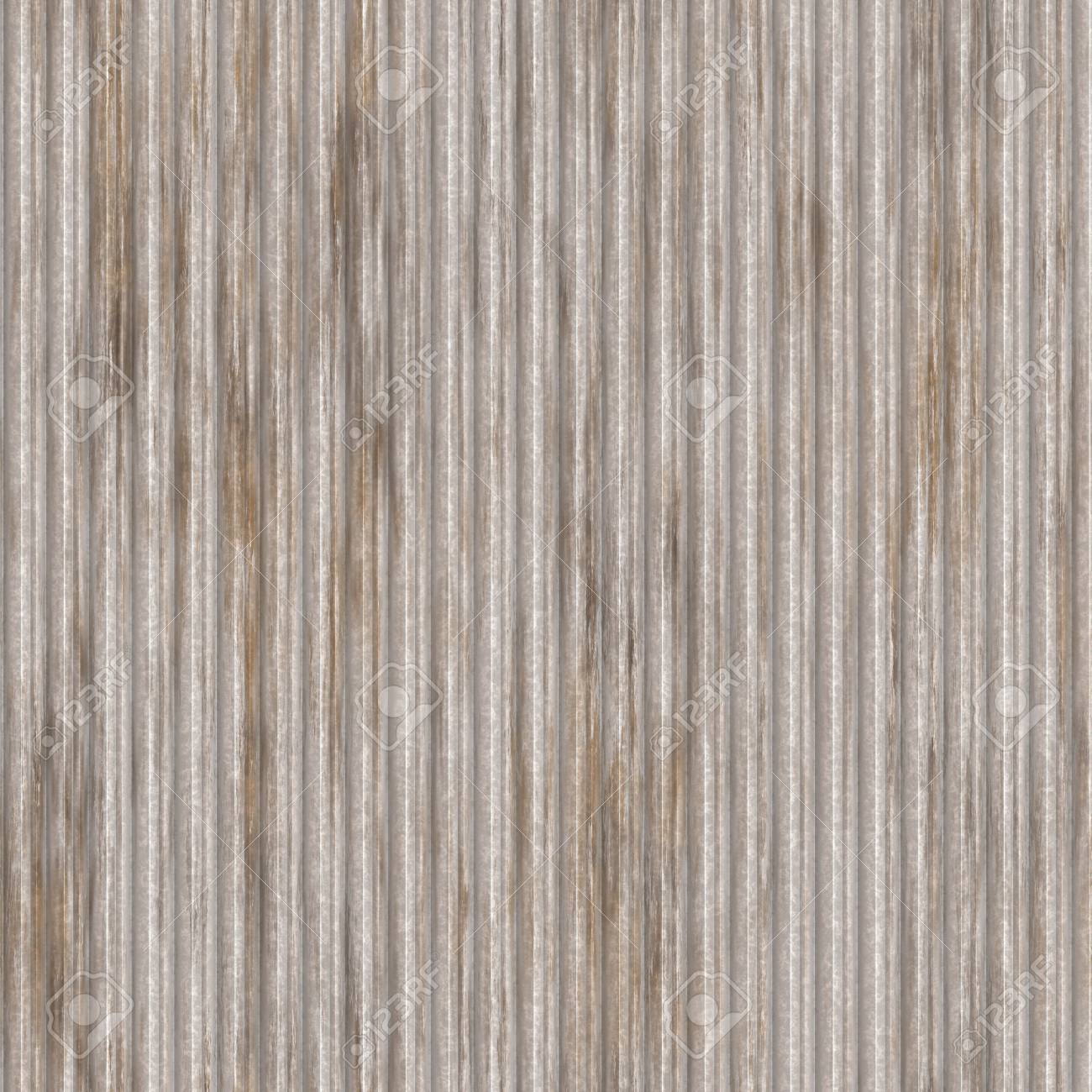 Corrugated metal ridged surface with corrosion seamless texture Stock Photo - 5907419