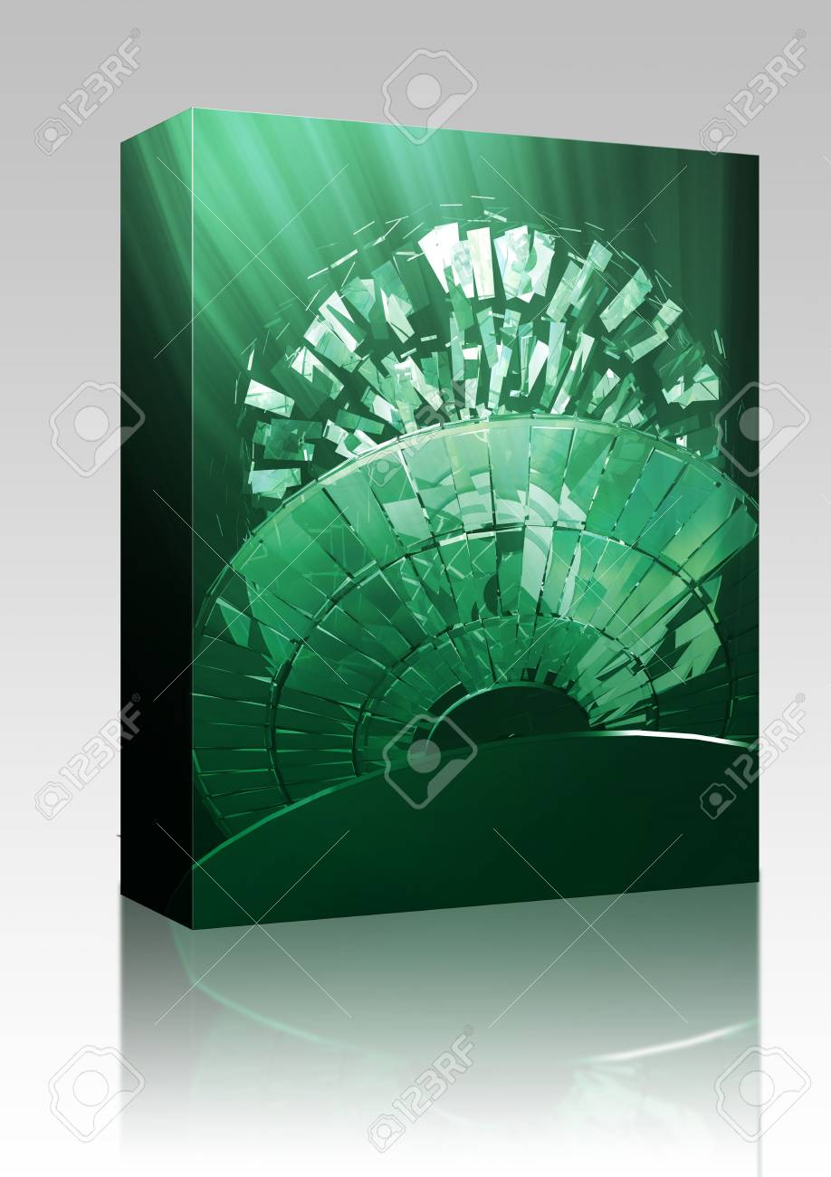 Software package box Data information loss and corruption illustration, shattered cd Stock Photo - 6164940