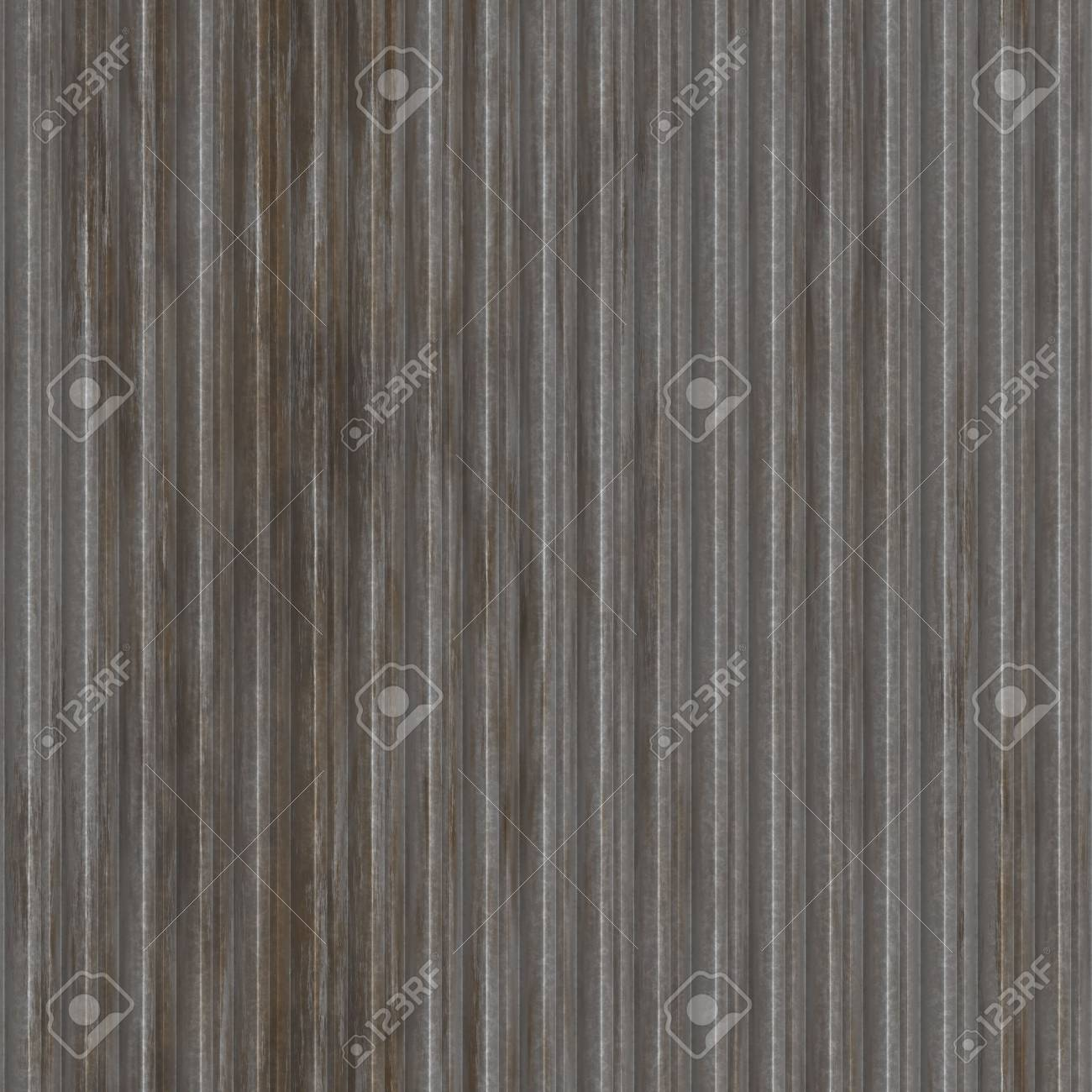 Corrugated metal ridged surface with corrosion seamless texture Stock Photo - 6165740
