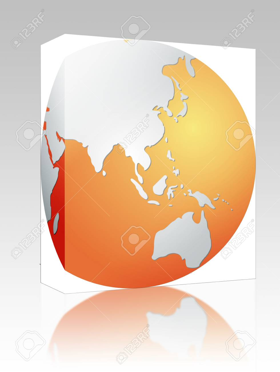 Software package box globe map illustration of the asia pacific illustration software package box globe map illustration of the asia pacific gumiabroncs Images