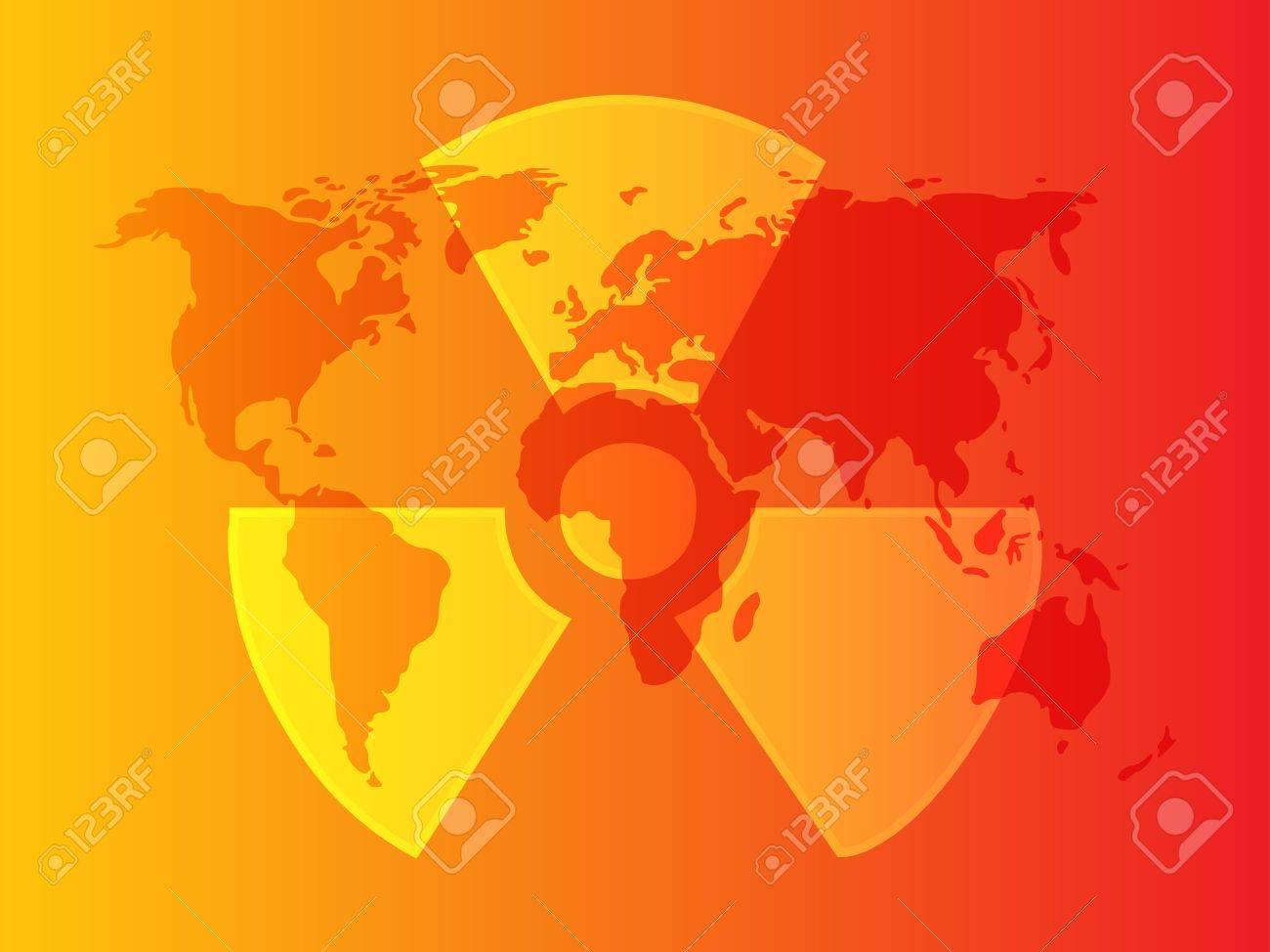 Illustration of radiation hazard warning alert symbol Stock Photo - 6164686