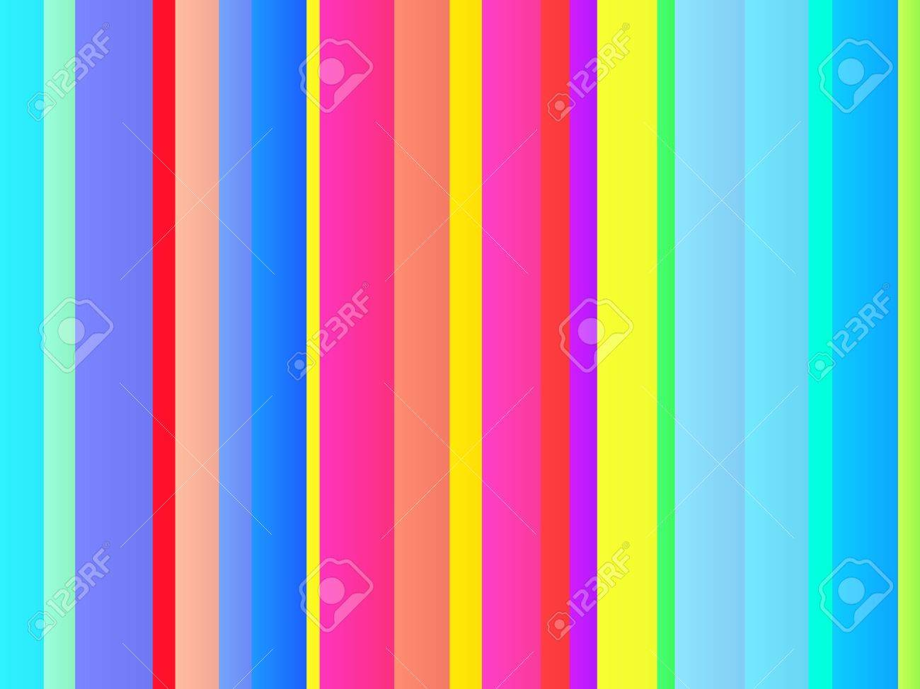 Colorful vertical lines. Glowing stripes. 3d rendering Stock Photo ...