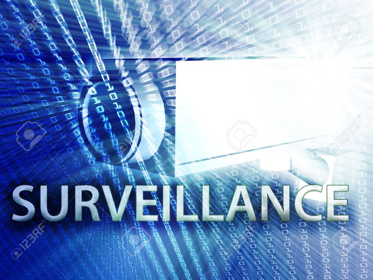 Security video camera digital surveillance equipment illustration Stock Illustration - 6165915