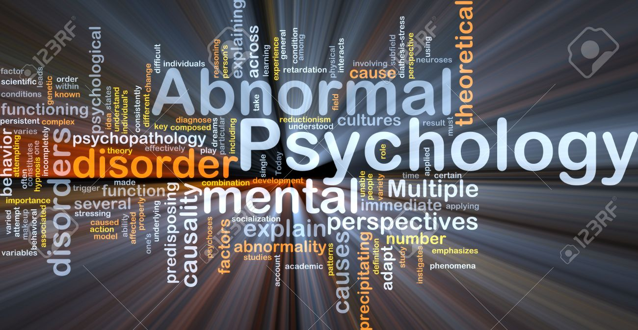Abnormal psychology background concept glowing light Stock Photo - 6165262