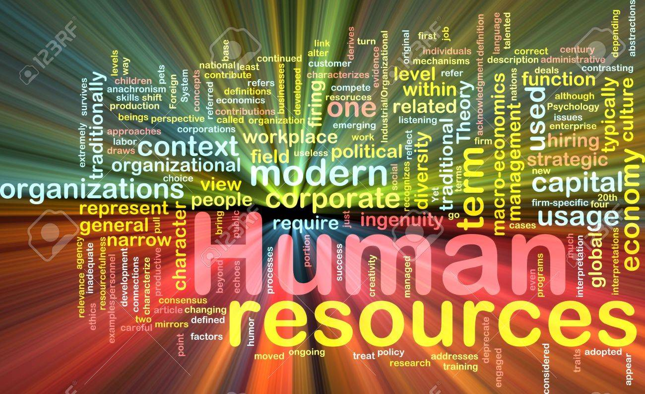Background concept illustration of human resources management glowing light effect Stock Photo - 6165762