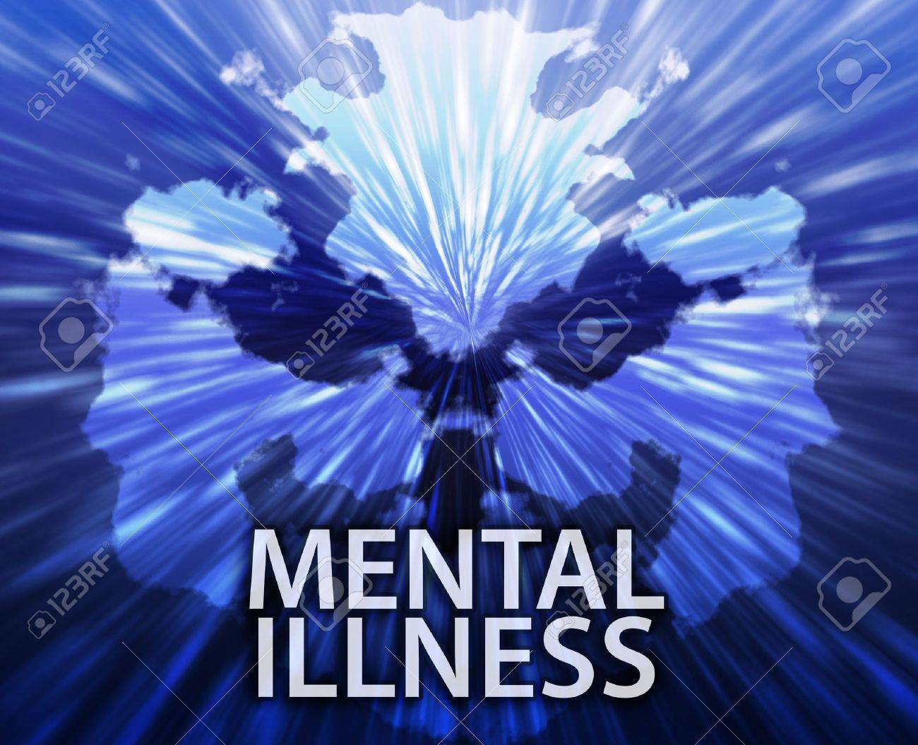 Psychiatric treatment mental illness rorschach inkblot concept background Stock Photo - 6165333
