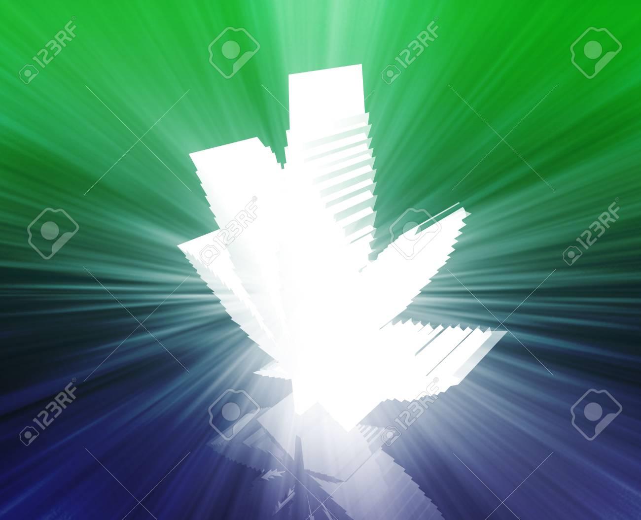 Marijuana cannabis leaf illustration, abstract symbol design Stock Photo - 6188271