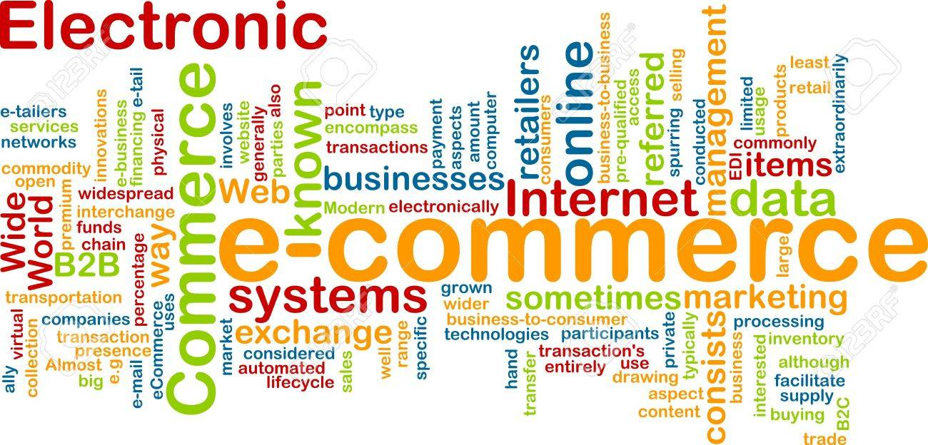 Word Cloud Concept Illustration Of E-commerce Electronic Commerce ...