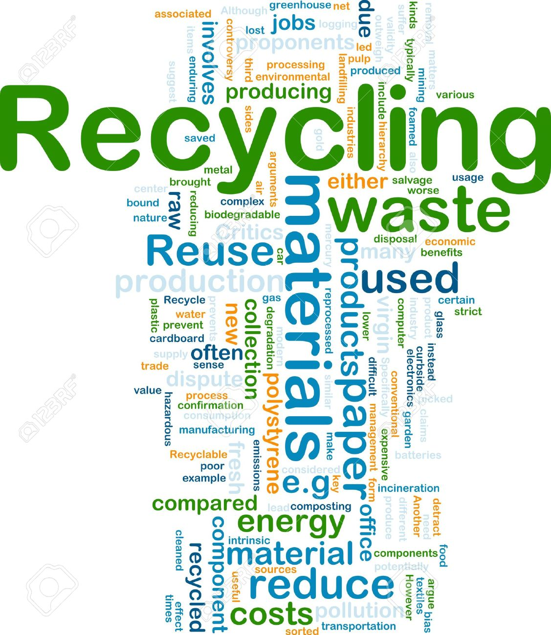Background concept illustration of recycling waste materials Stock Photo - 6194940