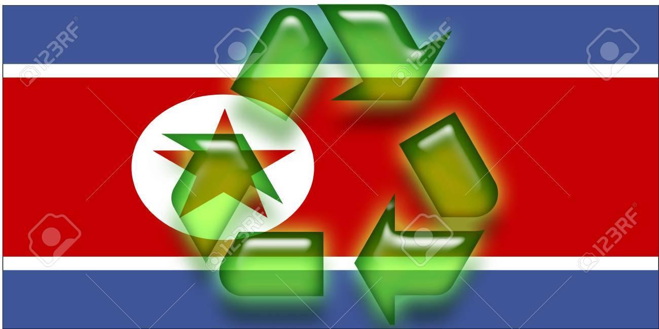 Flag Of North Korea National Country Symbol Illustration Eco