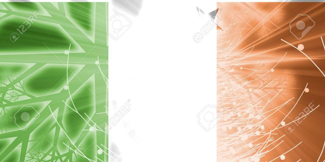 Flag Of Ireland, National Country Symbol Illustration Christmas ...