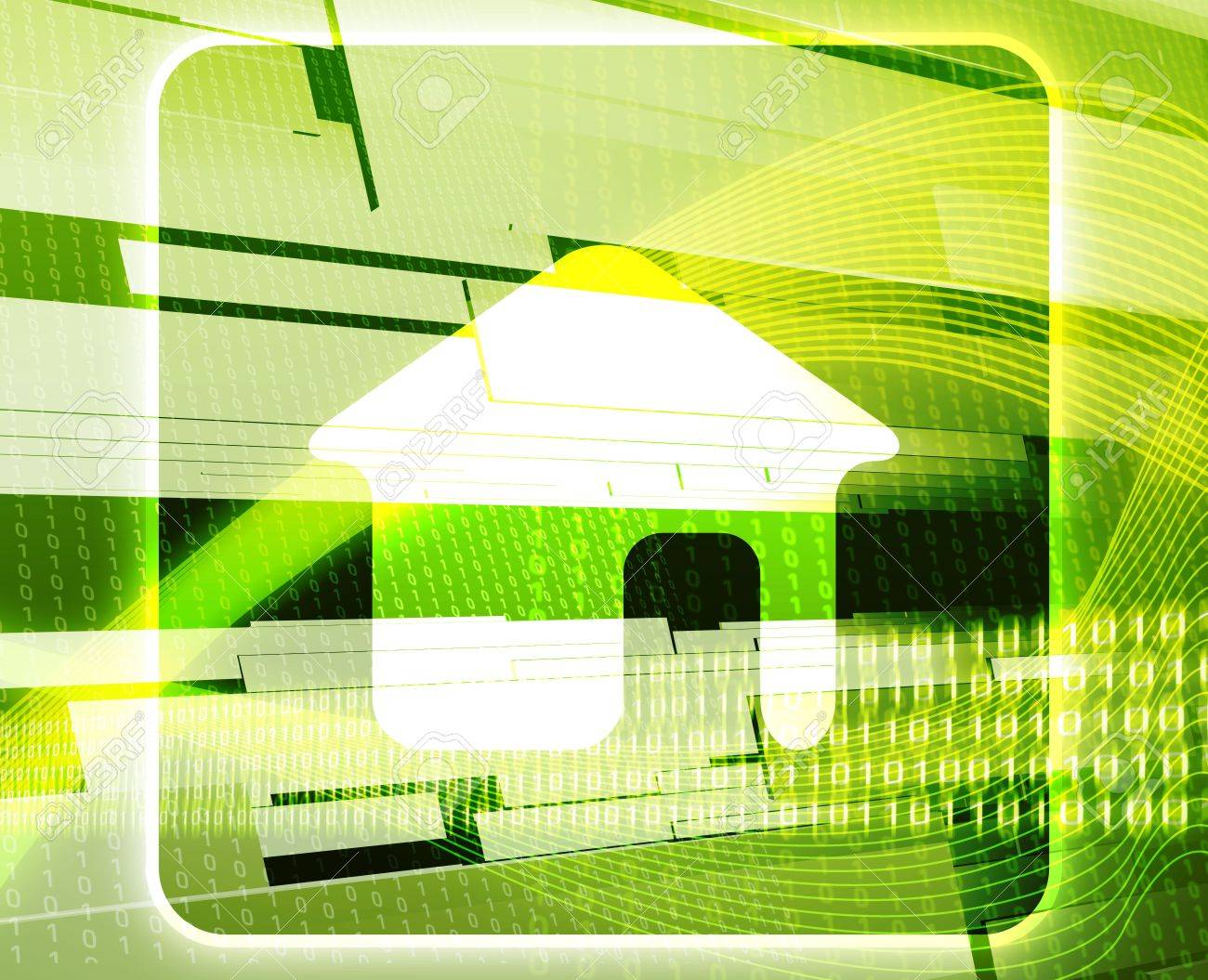 Home navigation web internet icon concept background illustration Stock Photo - 6316296