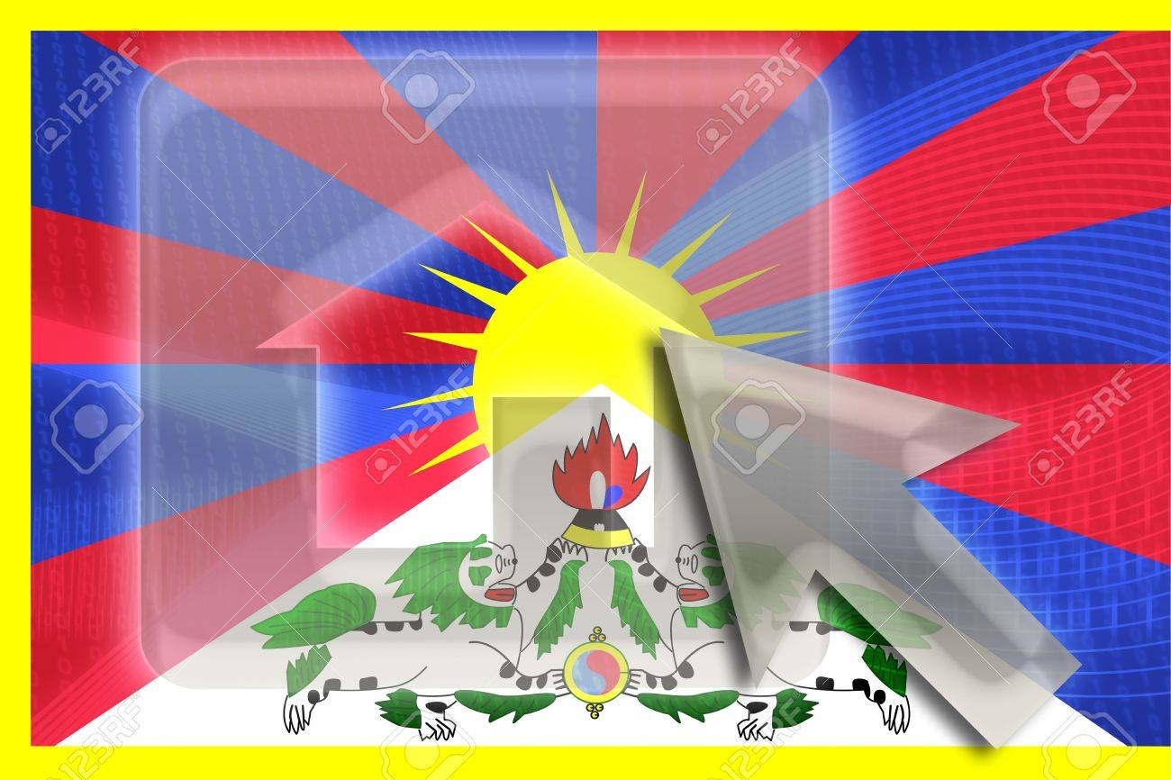 チベット、国の象徴のイラスト クリップアート ホームページの旗