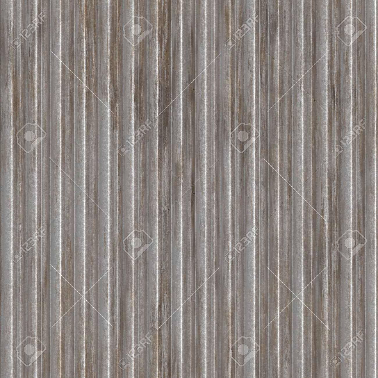 Corrugated metal ridged surface with corrosion seamless texture Stock Photo - 6370432