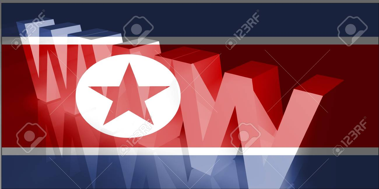 Flag of North Korea, national country symbol illustration www internet e-commerce Stock Illustration - 6361177