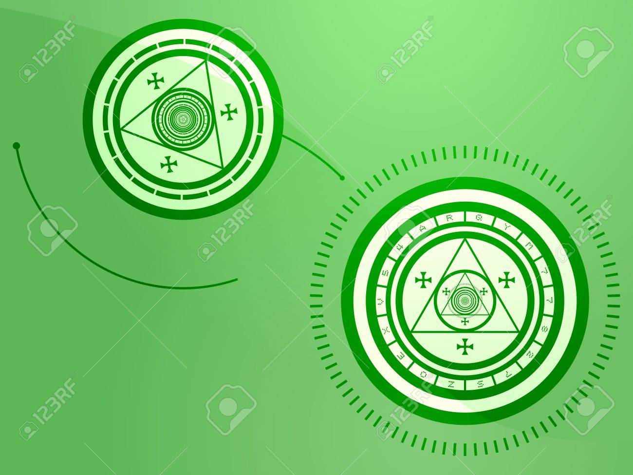 Wierd arcane symbols that look strange and occult Stock Photo - 6364944