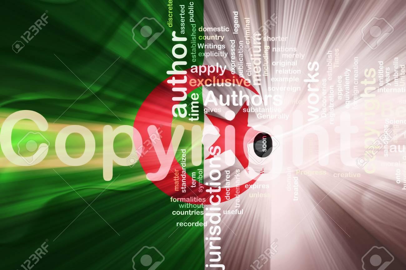 Flag of Algeria, national country symbol illustration wavy fabric national copyright law Stock Photo - 6493310