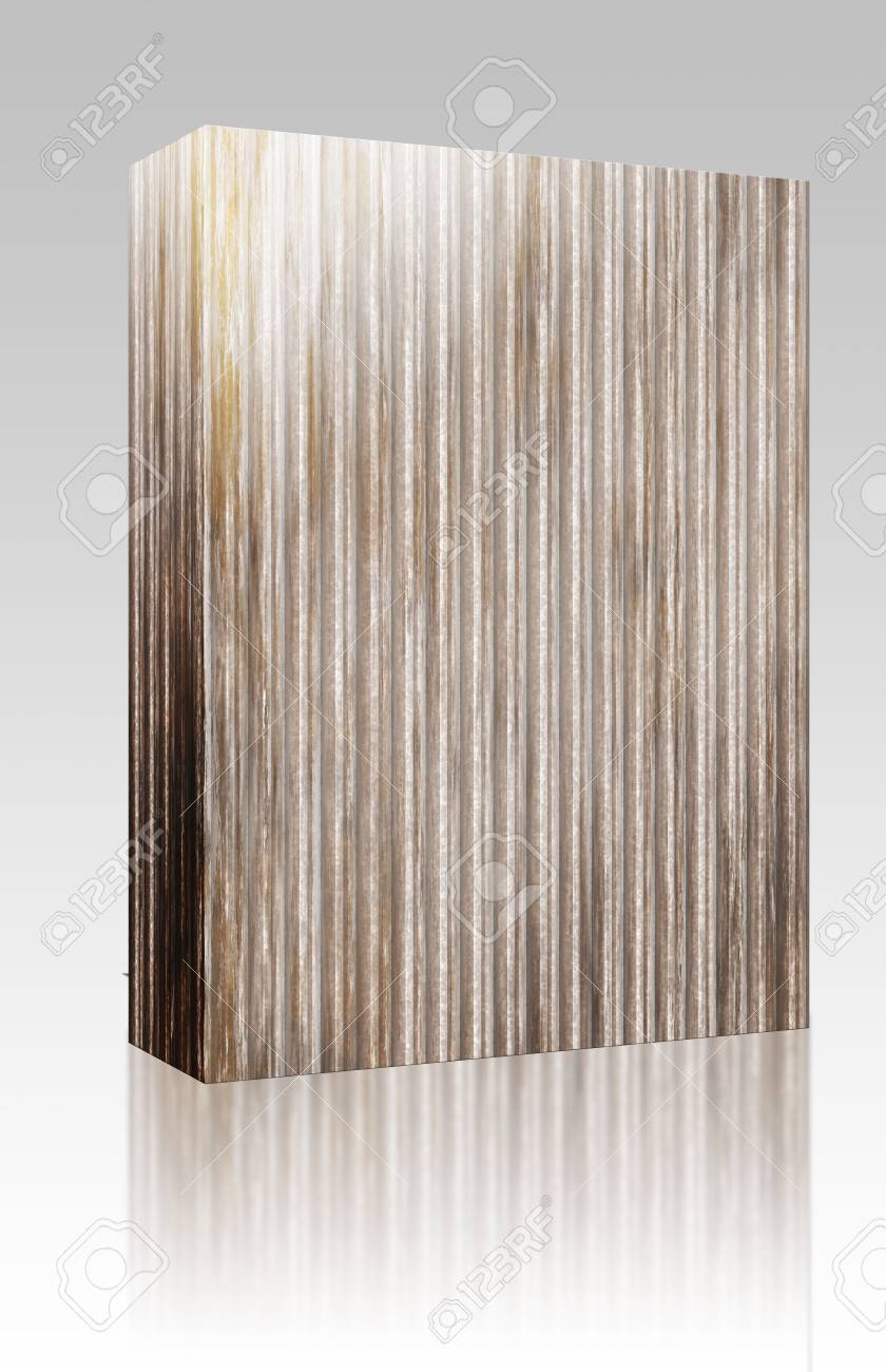 Software package box Corrugated metal ridged surface with corrosion seamless texture Stock Photo - 6645760