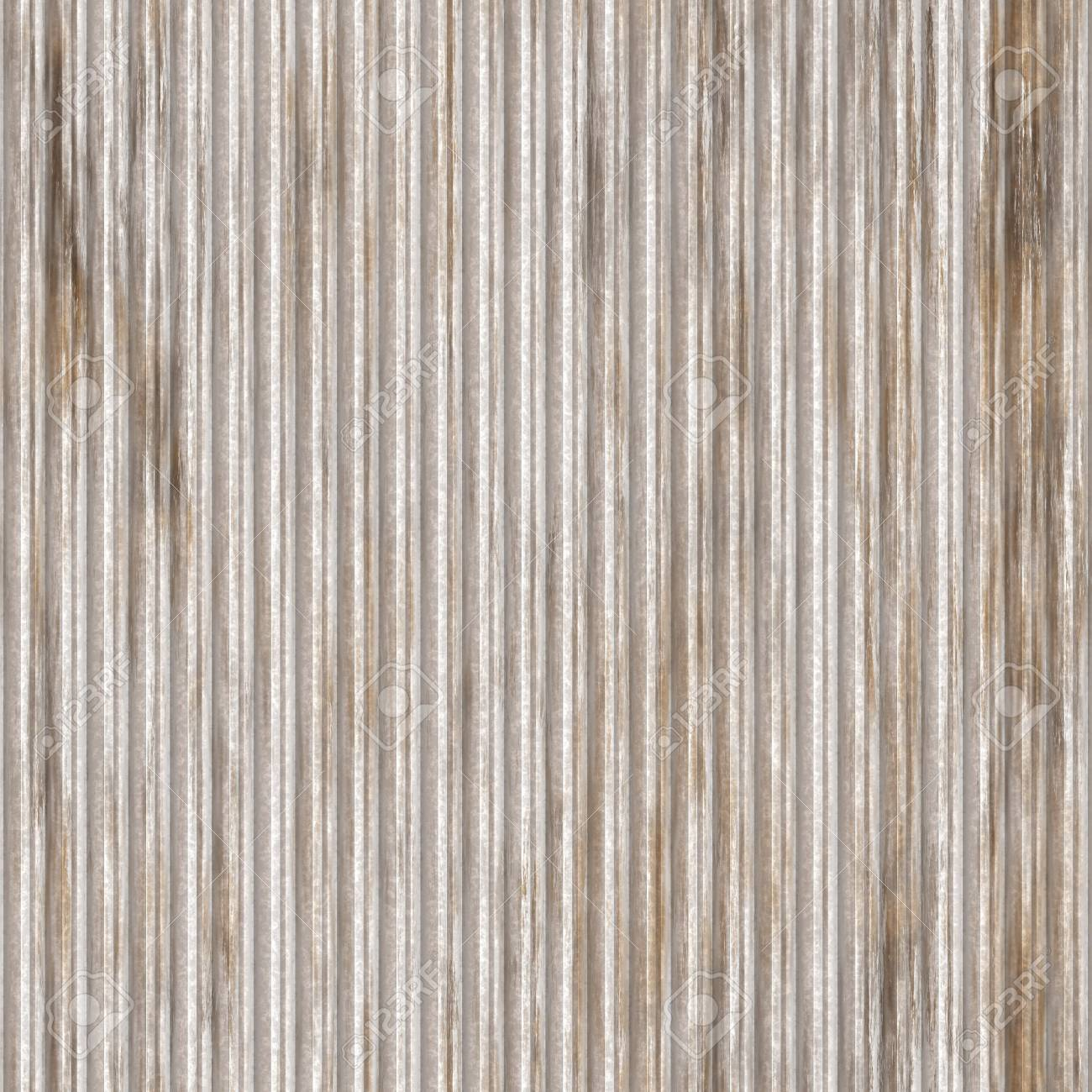 Corrugated metal ridged surface with corrosion seamless texture Stock Photo - 6646606
